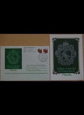 Dailininko A. Šakalio 1989m kolekcinis vokas su atvirute Nr 31A G