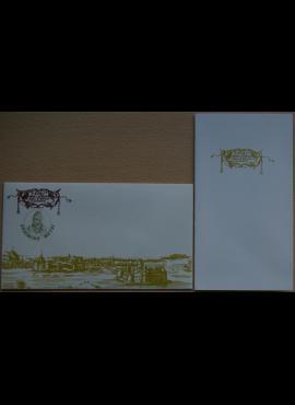 Dailininko A. Šakalio 1991m kolekcinis vokas su atvirute Nr 62 G