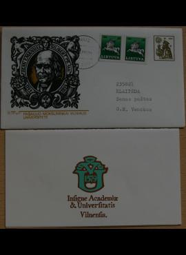 Dailininko A. Šakalio 1991m kolekcinis vokas su atvirute Nr 56 G