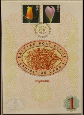 Didžioji Britanija, 1987m filatelijos parodos kortelė