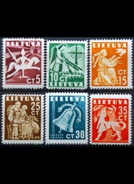 Tarpukario Lietuva, pilna serija, MiNr 437-442 MNH**