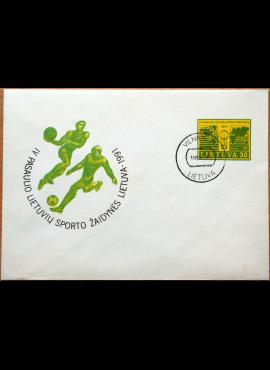 Lietuva, 1991m ženklinis vokas KvNr C16 (O)