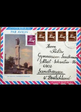 Lietuva, 1990m oro pašto vokas