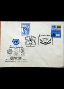 Lietuva, 1992m pirmos dienos vokas su MiNr 495
