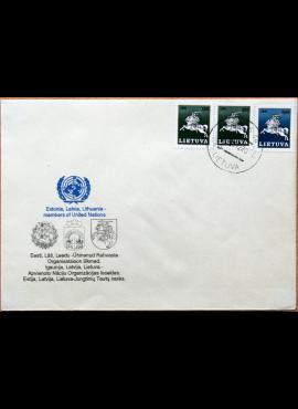 Lietuva, 1992m proginis vokas su MiNr 493-494