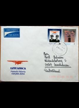 Lietuva, 1993m proginis vokas su MiNr 529-530