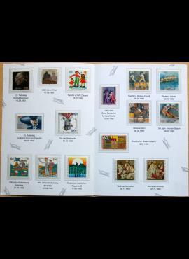 Vokietija, 1992m pašto ženklų rinkinys lankstinuke MNH**