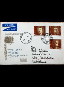 Dailininko R. Gibavičiaus 1994m kolekcinis pirmos dienos vokas