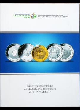 """2006m Vokietijos """"FIFA WM 2006"""" proginių monetų kortelė"""
