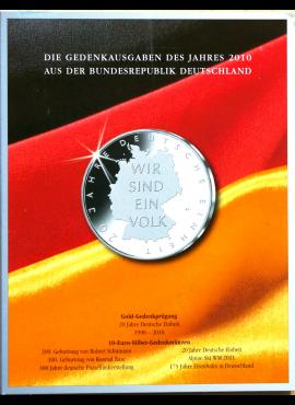 2010 m. Vokietijos 10 eurų proginių monetų kortelė