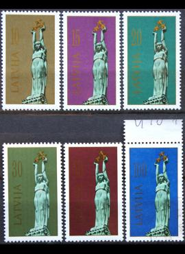 Latvija, pilna serija MiNr 317-322 MNH**/Used(O)