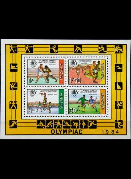 Tanzanija, blokas nr. 37 MiNr 242-245 MNH** V