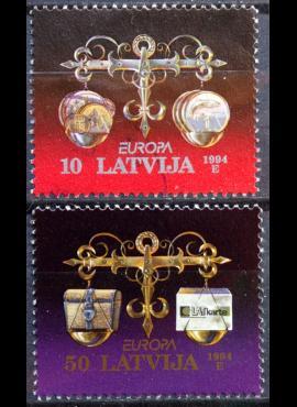 Latvija, pilna serija MiNr 376-377 MNH**/Used(O) E