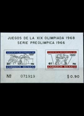 Meksika, 1966m blokas MNH** V