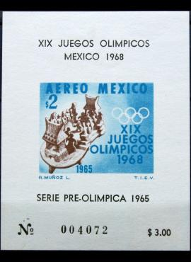 Meksika, 1965m blokas MNH** V