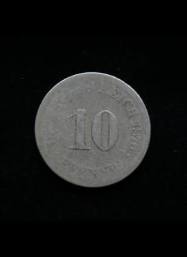 Vokietijos Imperija, 10 pfenigių 1876m-J