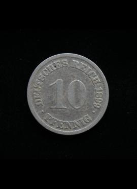 Vokietijos Imperija, 10 pfenigių 1899m-D