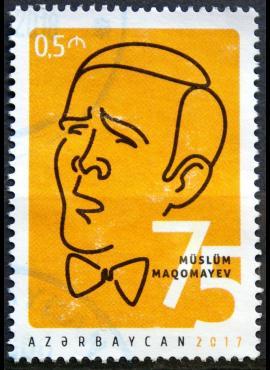 Azerbaidžanas, 2017m pašto ženklas Used(O)