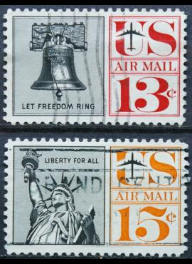 JAV, oro paštas, pilna serija ScNr C62-C63 Used(O)
