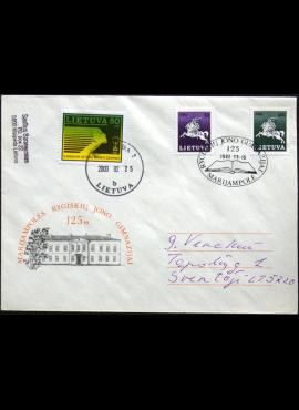 Lietuva, 1992m proginis vokas su MiNr 483, 492-493 (O)
