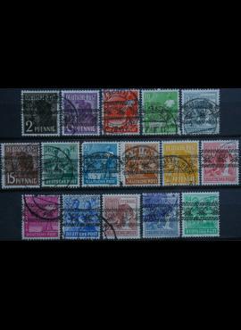 Pokario Vokietija, Amerikiečių/Britų zona, MiNr 36-51(I) Used(O) (be Nr A49)