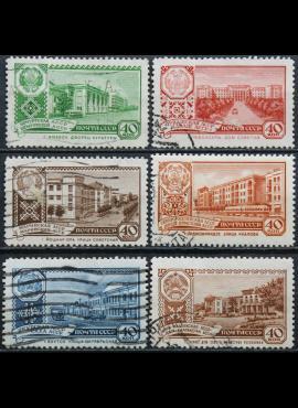 Rusija, TSRS ScNr 2328, 2330, 2332-2335 Used(O) V