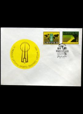 Lietuva, 1991m proginis vokas su MiNr 482-483