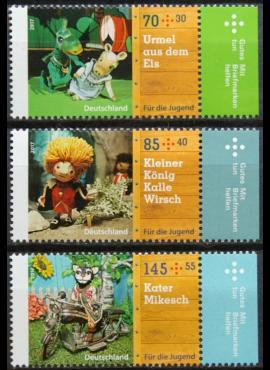 Vokietija, pilna serija MiNr 3325-3327 MNH** E