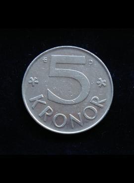 Švedija, 5 kronos 1988m