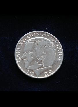 Švedija, 1 krona 1989m