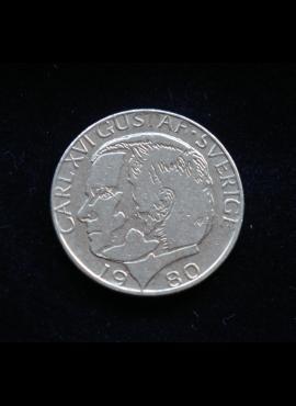 Švedija, 1 krona 1980m