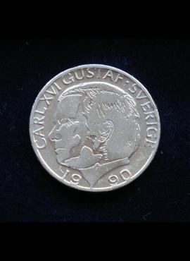 Švedija, 1 krona 1990m