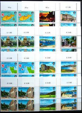 Aldernis, pilna serija kvartblokiais ScNr 1-12 MNH**