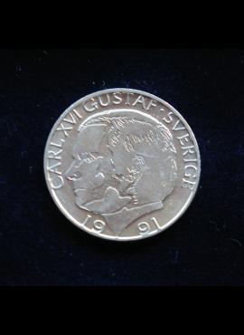 Švedija, 1 krona 1991m
