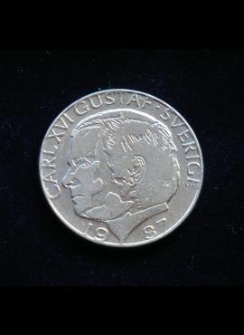 Švedija, 1 krona 1987m