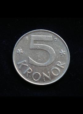 Švedija, 5 kronos 1987m