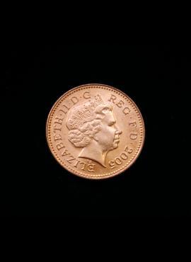 Didžioji Britanija, 1 pensas 2005m