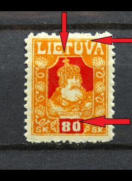 Tarpukario Lietuva, abartas V39+ MiNr 94 MH*