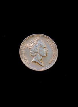 Didžioji Britanija, 1 pensas 1996m