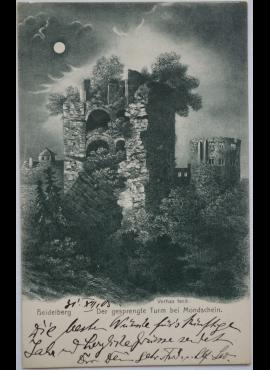 Vokietijos Reichas, Heidelbergas 1903m atvirlaiškis