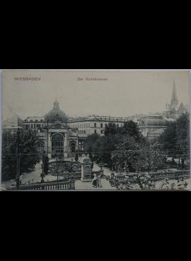 Vokietijos Reichas Wiesbadenas 1908m atvirlaiškis