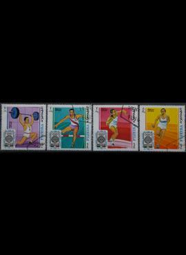JAE, Fujeira, pilna oro pašto serija 1968m Used(O)