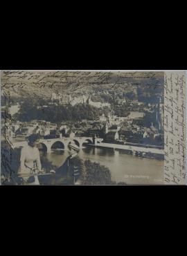 Vokietijos Reichas Heldelbergas 1902m atvirlaiškis