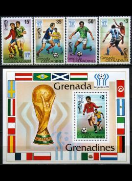 Grenada ir Grenadinai, pilna serija su bloku MiNr 305-309 MNH** V
