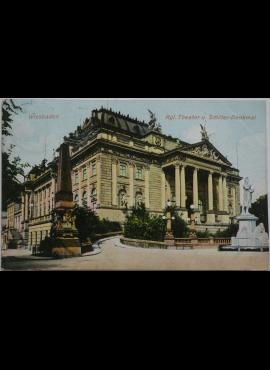 Vokietijos Reichas, Wiesbadenas 1909m atvirlaiškis