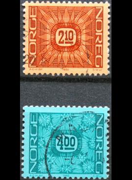 Norvegija, pilna serija, MiNr 942-943 Used (O) G