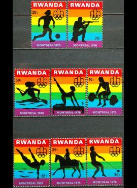 Ruanda, pilna serija MiNr 823-830 MNH**
