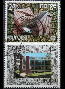 Norvegija, pilna serija, MiNr 965-966 Used (O) G