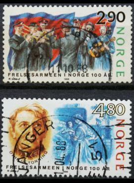 Norvegija, pilna serija, MiNr 988-989 Used (O) G