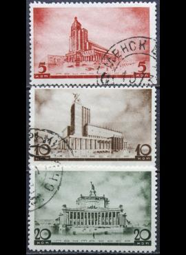 Rusija, TSRS ScNr 597, 599, 601 Used(O) V